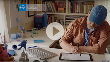 Watch Award-winning Illustrator Bob Staake use Intel-powered 2 in 1
